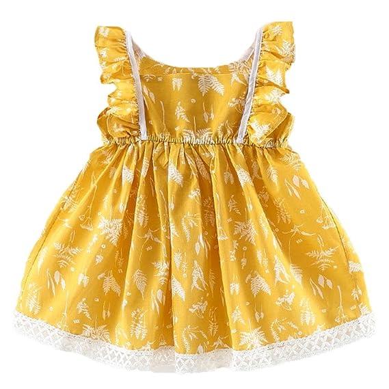 K-youth Niña Princesa Vestido, Vestido Bebé Niña Verano Vestido Niña Tutú Princesa Vestidos Sin mangas Ropa Niña Vestido Infantil Fiesta Niñas Vestido de ...