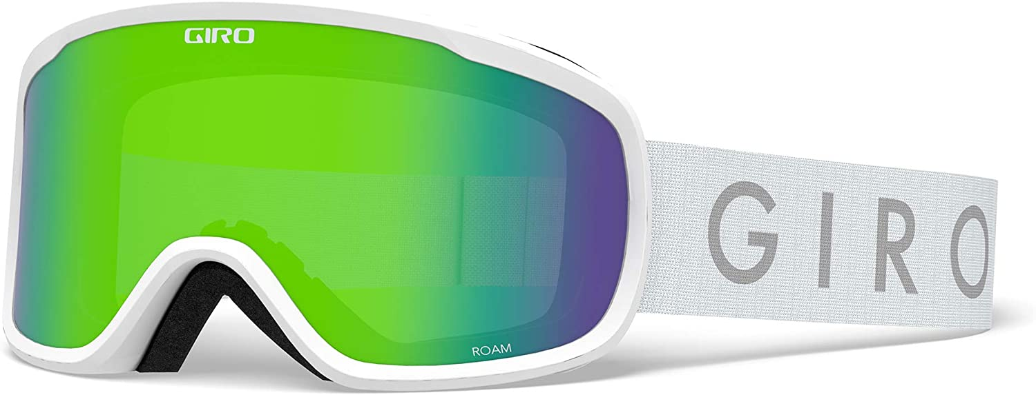 Giro Roam Adult Snow Goggles - White Core Strap with Loden Green/Yellow Lenses (2020)