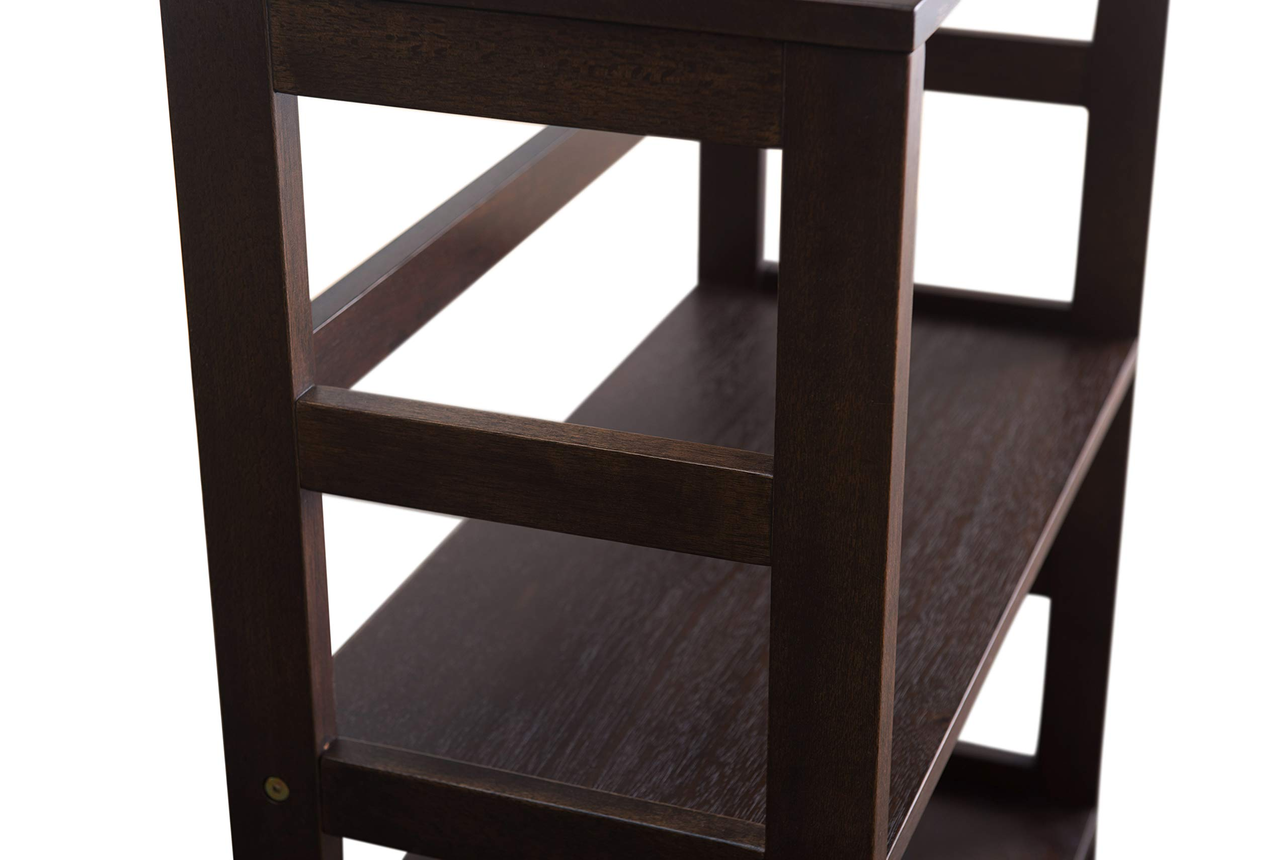 2L Lifestyle Hyder Everyday Basic Bookshelf Storage Rack Wood Shelf, Small, Brown by 2L Lifestyle (Image #8)