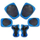 DRFLY Kinder Protektorenset mit Knieschützer Ellbogenschützer Handgelenkschützer Schutzausrüstung Set für Skateboard, Rollerblades, Radfahren, Reiten, Radfahren, Fahrrad und Outdoor-Aktivitäten