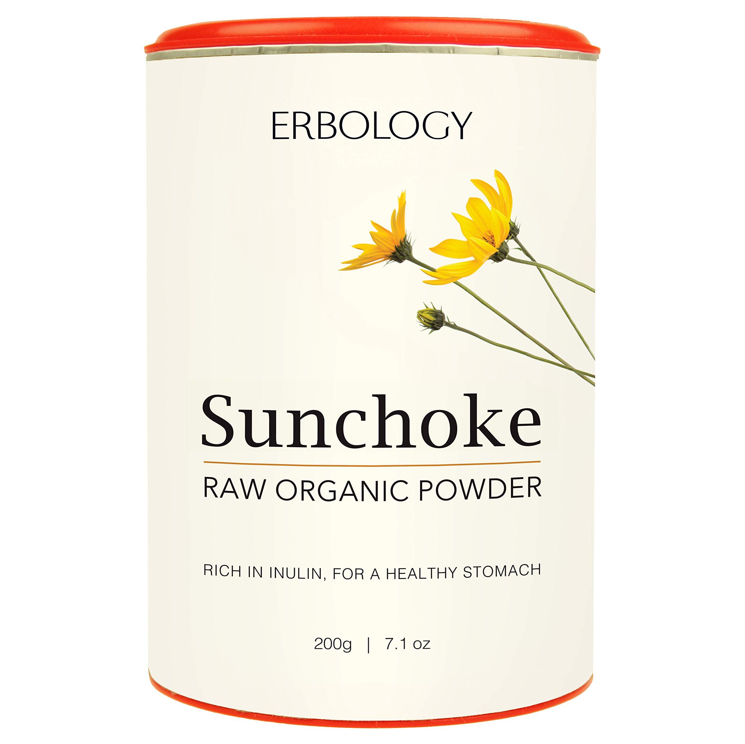 Organic Sunchoke Powder 7.1 oz - Rich in Inulin for Healthy Stomach - Jerusalem Artichoke - Prebiotic - Raw - Gluten-Free by Erbology