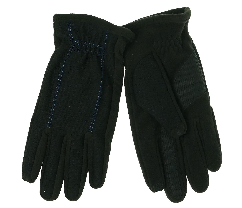ISO Isotoner Mens Gloves SmarTouch Tech Stretch Blue Stitch Medium