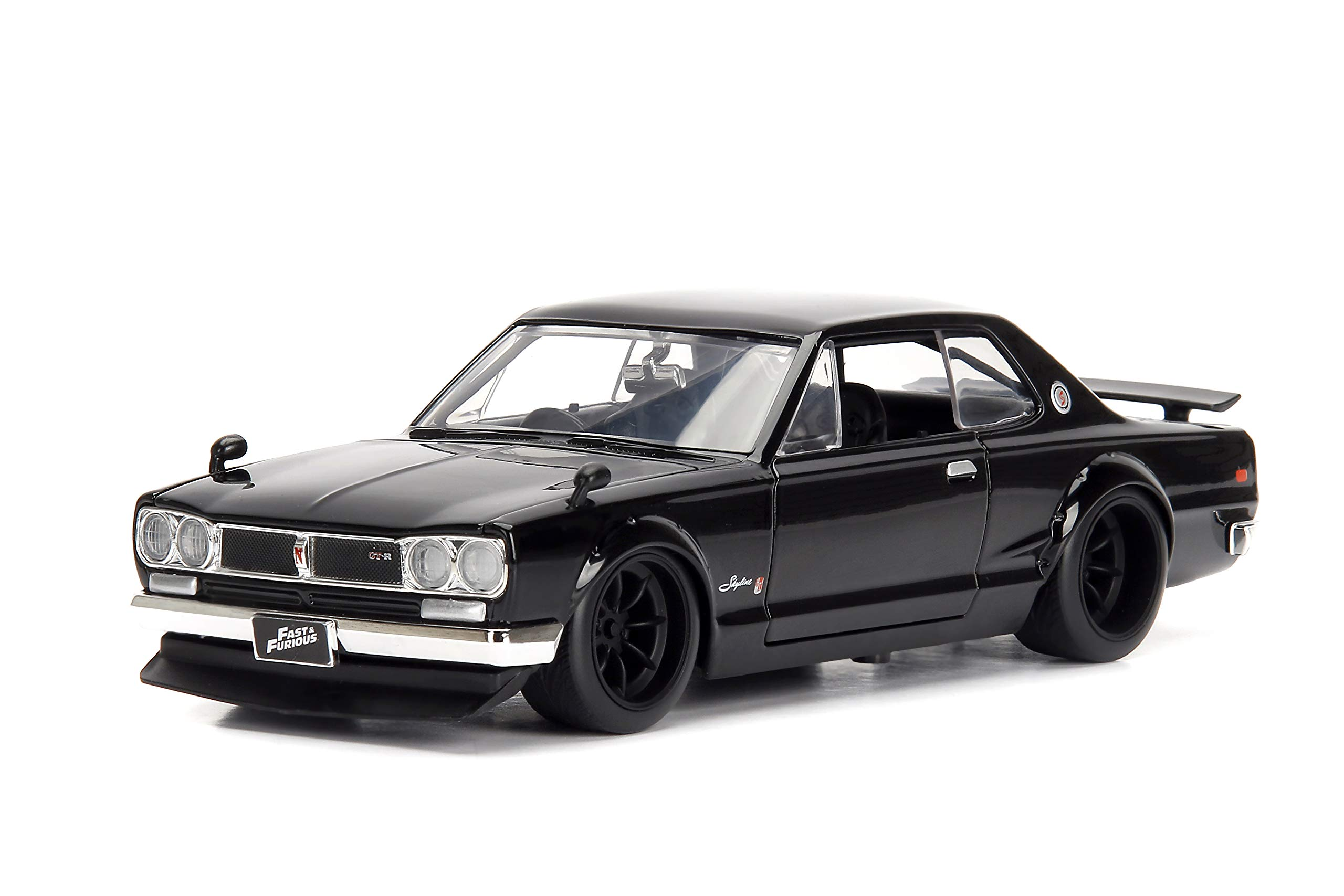 Jada Toys Fast & Furious 1:24 Brians's Nissan Skyline 2000 GT-R Die-cast Car, Toys for Kids and Adults (JA99686) , Black