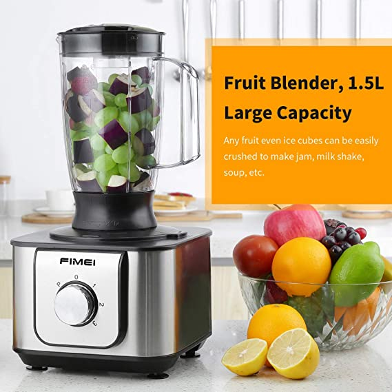 FIMEI Procesador de Alimentos 1100W, Robot de Cocina, Diseño ...