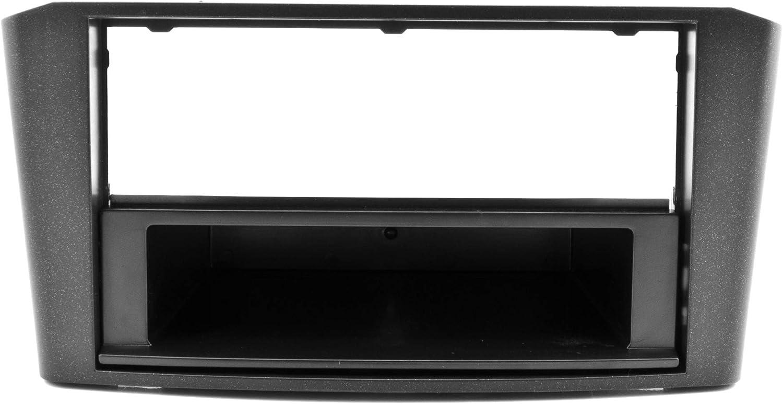 Watermark WM-6204 Radioblende f/ür Toyota Avensis T25 ab 2003 1-DIN Doppel-DIN Autoradio Einbaurahmen Ablagefach schwarz