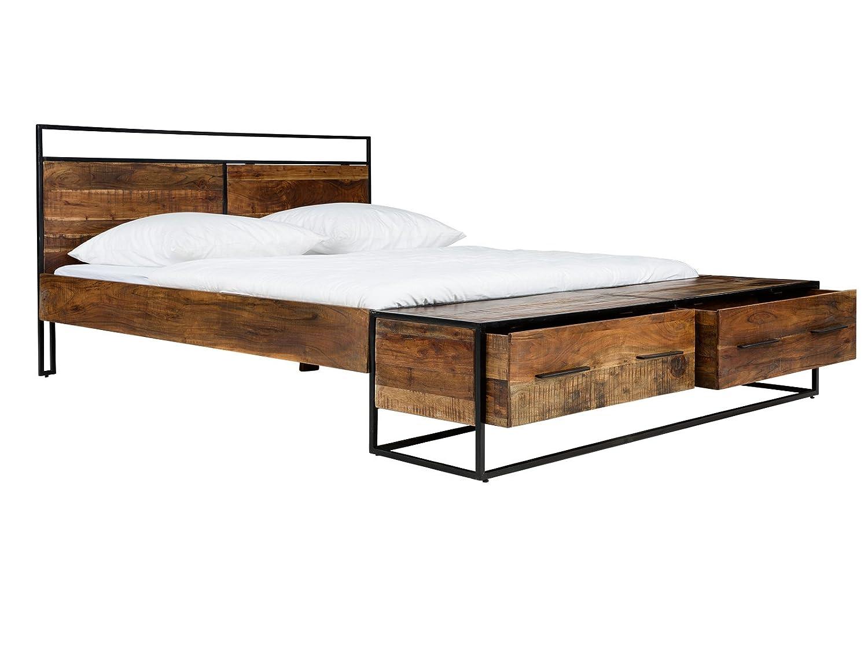massivum 10023662 Bett Oklahoma 180x200cm, Holz, braun, Double ...