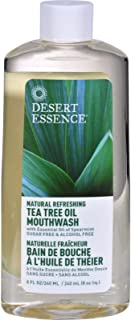 product image for Desert Essence Natural Refreshing Tea Tree Oil Mouthwash, Spearmint 8 Ounce ( Pack of 6)