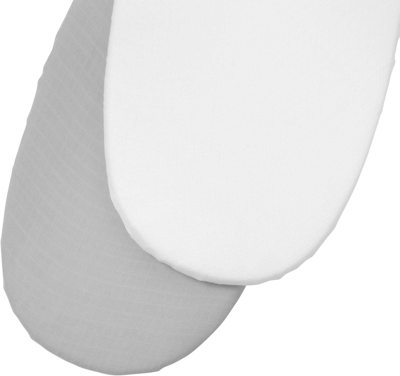 Muselina Clair de Lune gris/blanco. Talla:Moses Basket (74 x 30cm)