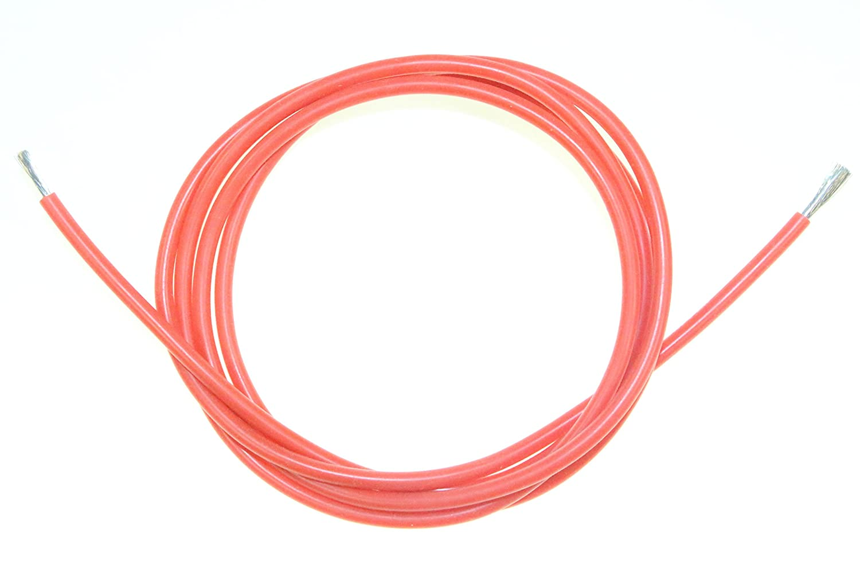 Silikonkabel 17 AWG Silikon Kabel in Rot Innen Ø 1,3mm Außen Ø 2,7mm ...