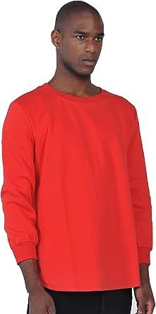 Pizoff Unisex Hip Hop urban basic Langärmliges lang geschnittener Jersey  Sweat T-shirt mit abgerundeter
