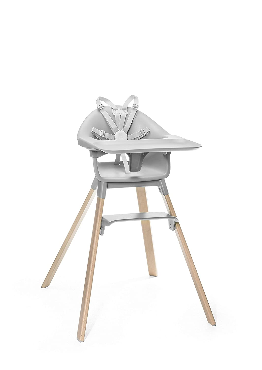 Adjustable Grow-Along Chair for Children with Tray and Safety Harness Colour: Cloud Grey Stokke Clikk High Chair Suitable from 6 Months to 3 Years