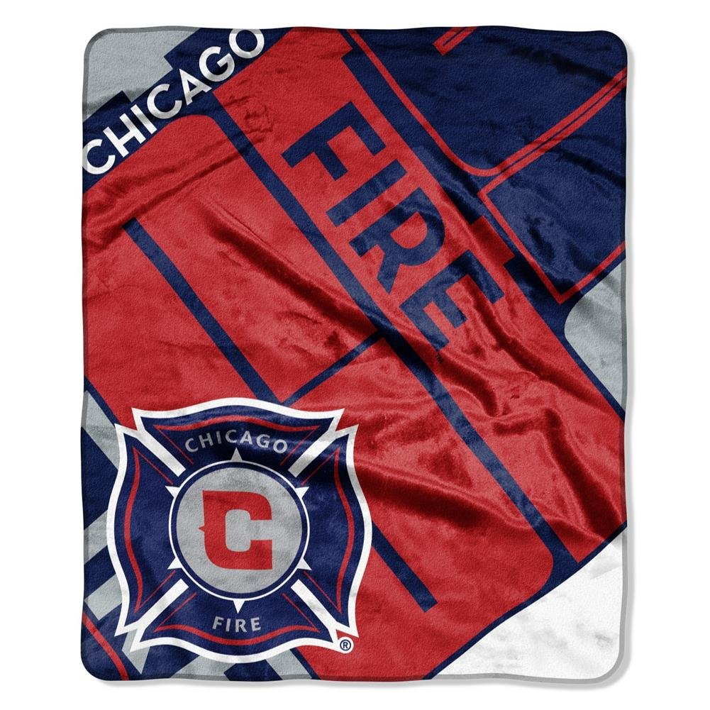 50 x 60 Red Officially Licensed MLS Chicago Fire Scramble Plush Raschel Throw Blanket