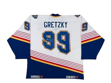 Wayne Gretzky Autographed St. Louis Blues CCM Authentic White Jersey ... 5f1308643be