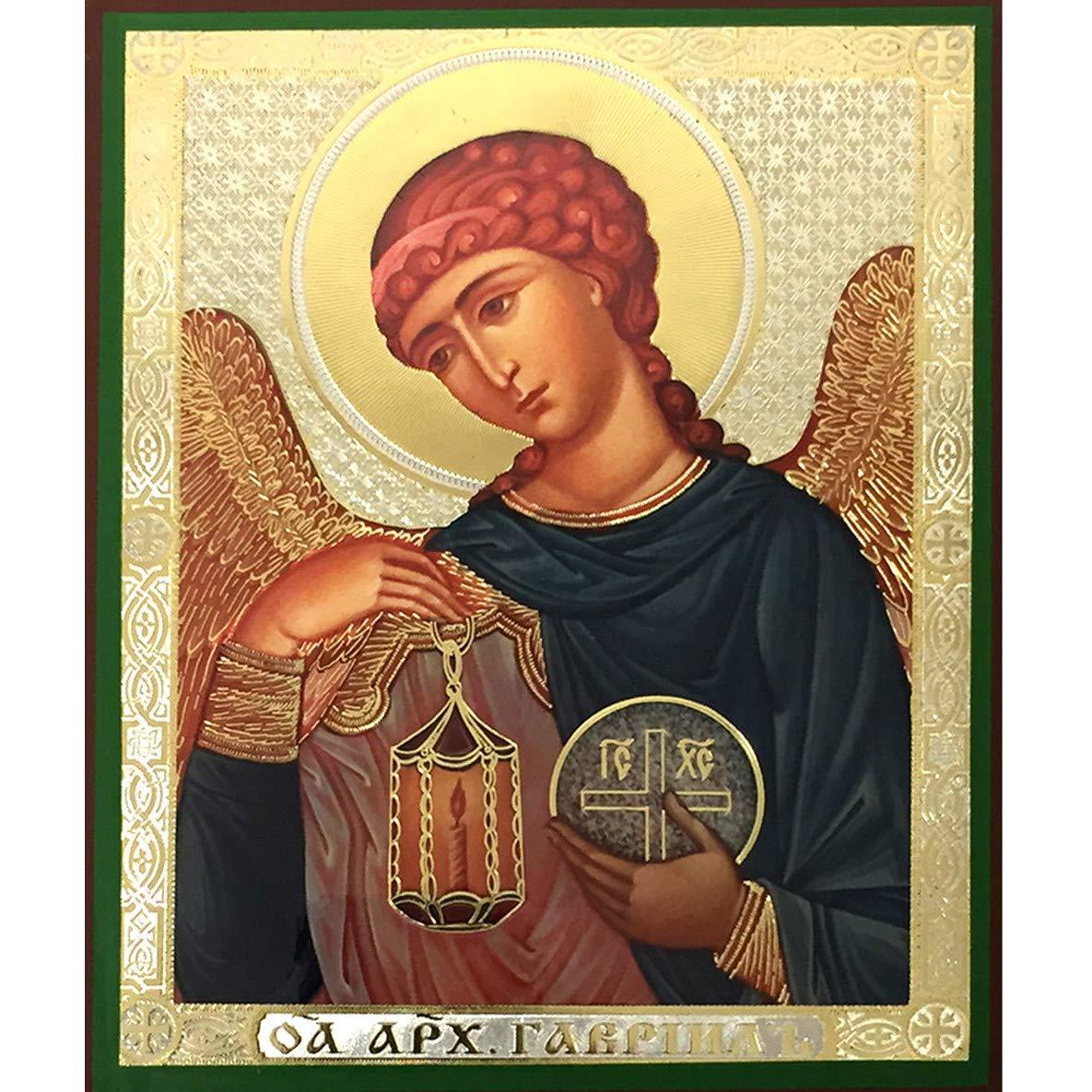 World Faith Religious Icon Archangel Gabriel 6-1/4 X 5 Inches Icon