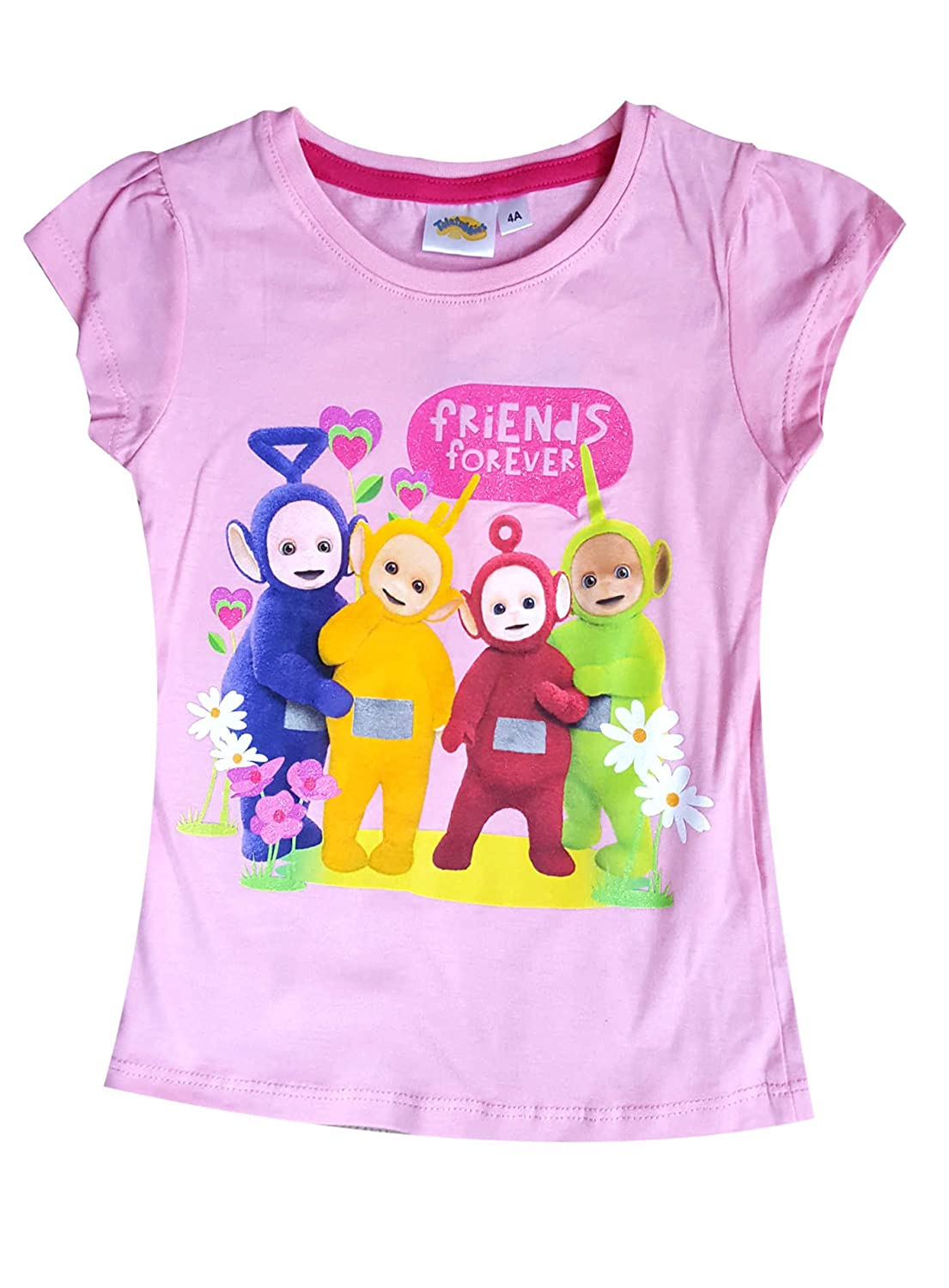 Teletubbies Official Licensed Boys Girls Short Sleeve Top Tshirt Age 2 To 6 Years