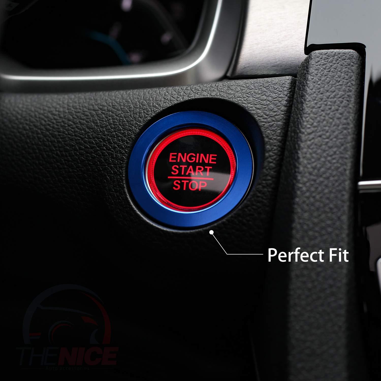 Anodized Aluminum Car Door Audio Speaker Trims for Honda Civic 2016 2017 2018 2019 Red Thenice for 10th Gen Civic A-Pillar Loudspeaker Decorations Circle Rings