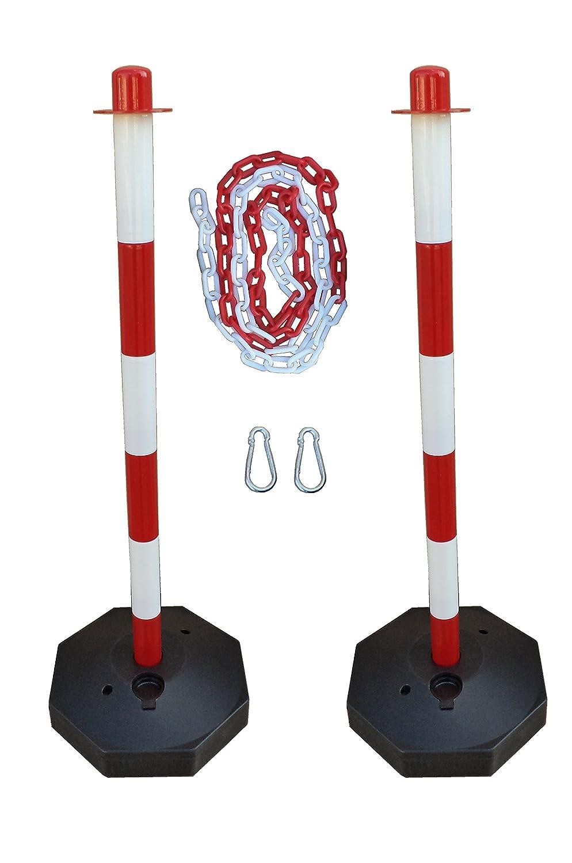 GC2-CH2 Paire de poteaux en plastique avec la chaîne 2m plastique ESR