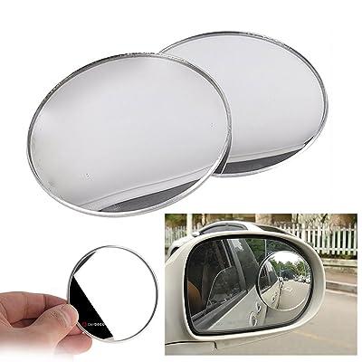 "3inch 2pcs Cardeco Puzzle Plus Alpha Circle Mirror Blind Spot Rear Side View Rearview for Car Truck Accessories 75mm 3"" 2p Set: Automotive"