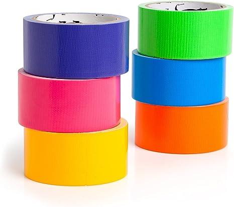 Amazon Com Craftzilla Cinta Adhesiva De Color Arcoíris 6 Colores 10 Yardas X 2 Pulgadas Cintas De Arte Coloridas Con Colores Brillantes Perfectas Para Niños Manualidades Hogar Y Proyectos