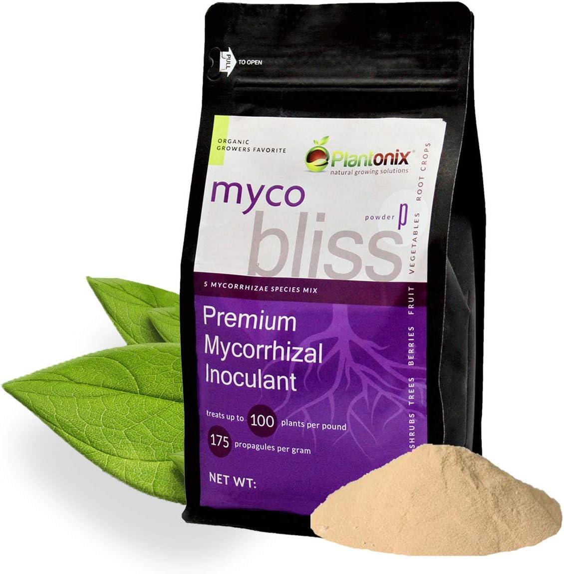 Myco Bliss Premium Mycorrhizal Fungi (5 Endo Mychorrhizae Species Mix) for Plants (Powder, 5 lb)
