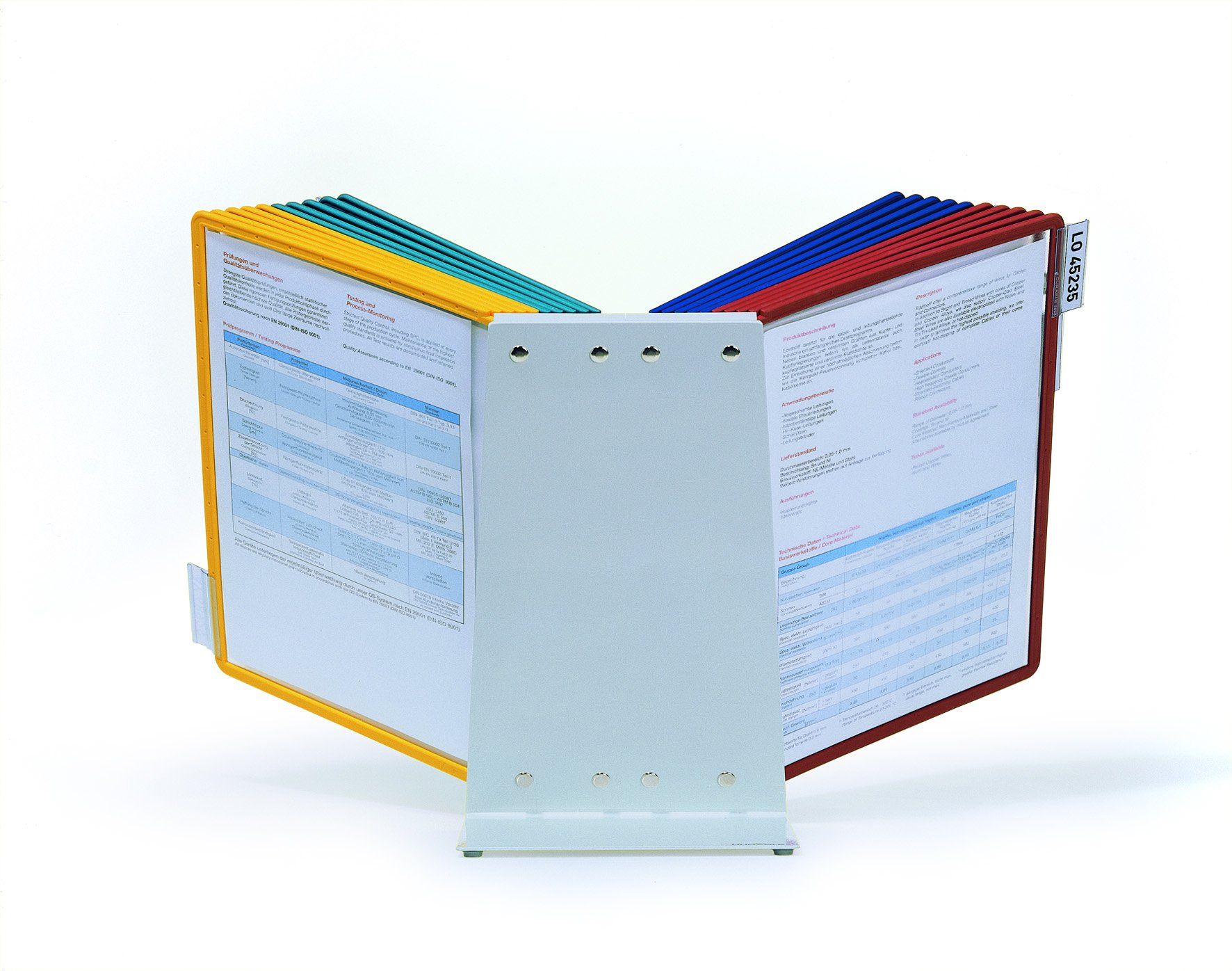 DURABLE Vario 20-Panel Desktop Reference System, Assorted Color Borders (536100) by Durable (Image #2)