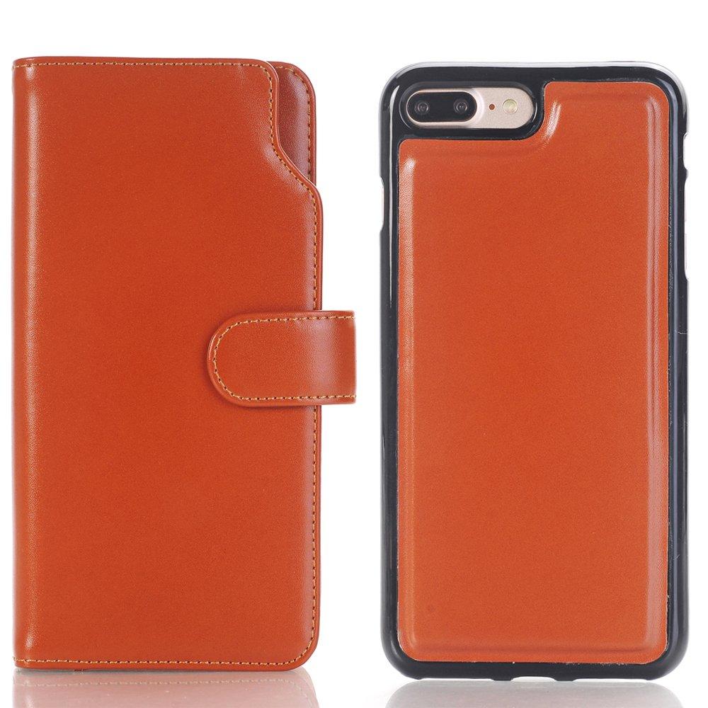 Hülle für iPhone 7, TechCode Karten Slots Bargeldhalter PU Leder Standfuß Flip Card Halter Brieftasche Hülle Fall für Apple iPhone 7 (iPhone 7, Blau)