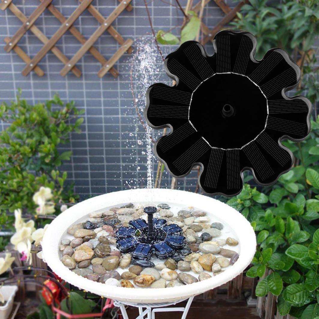 bain doiseau dextérieur à énergie solaire Pompe de fontaine 1 W kit ...