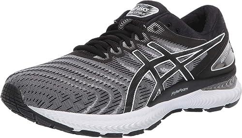 Zapatillas de correr Asics GEL-Nimbus 22 (2E) para hombre, talla 42 UE ancho, color blanco/negro: Amazon.es: Zapatos y complementos