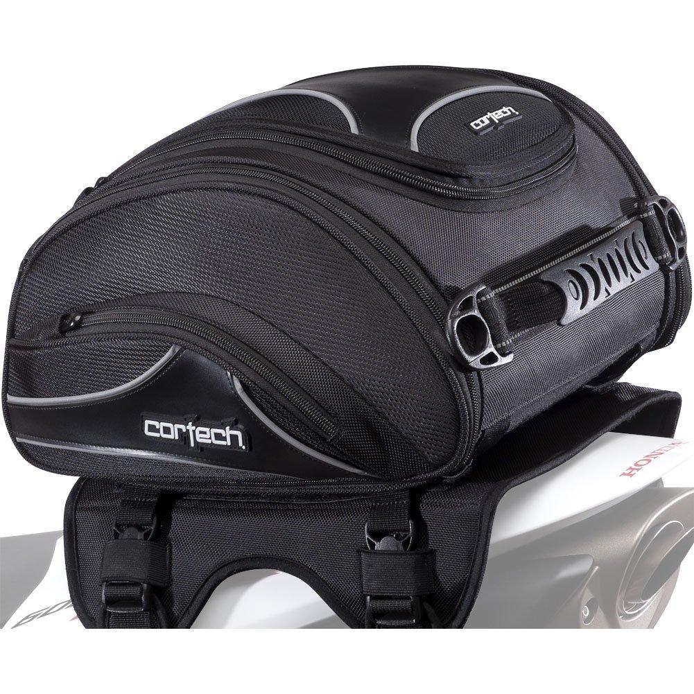 Cortech Super 2.0 24-Liter Motorcycle Tail Bag - Black / 13.4'' L x 14.2'' W x 7.5'' D