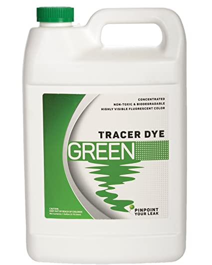 8d5de1e91489d6 Image Unavailable. Image not available for. Color  Green Tracing Dye -  Highly Visible Concentrated Fluorescent Leak Detection Dye - 1 Gallon