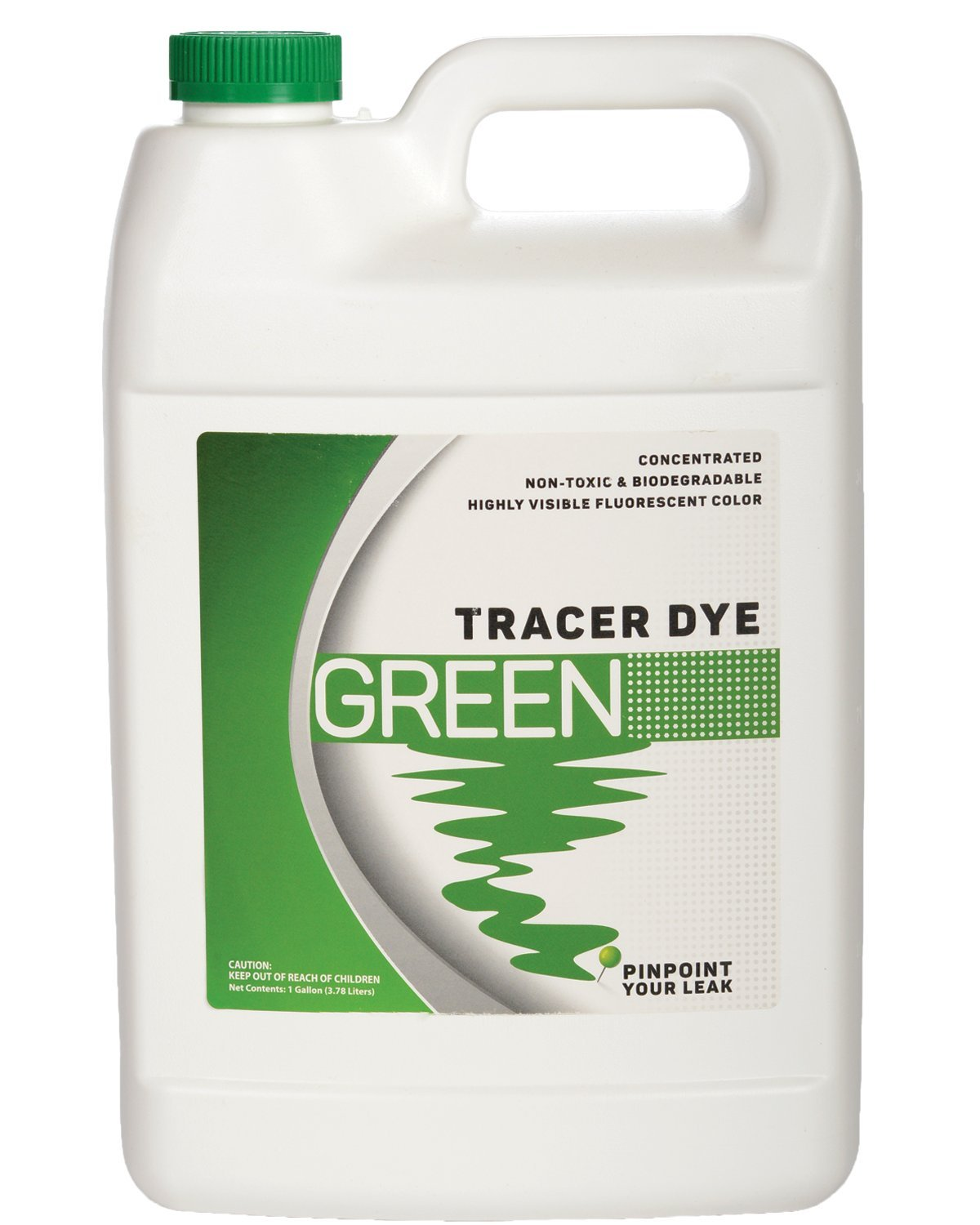 Green Tracing Dye - Highly Visible Concentrated Fluorescent Leak Detection Dye - 1 Gallon