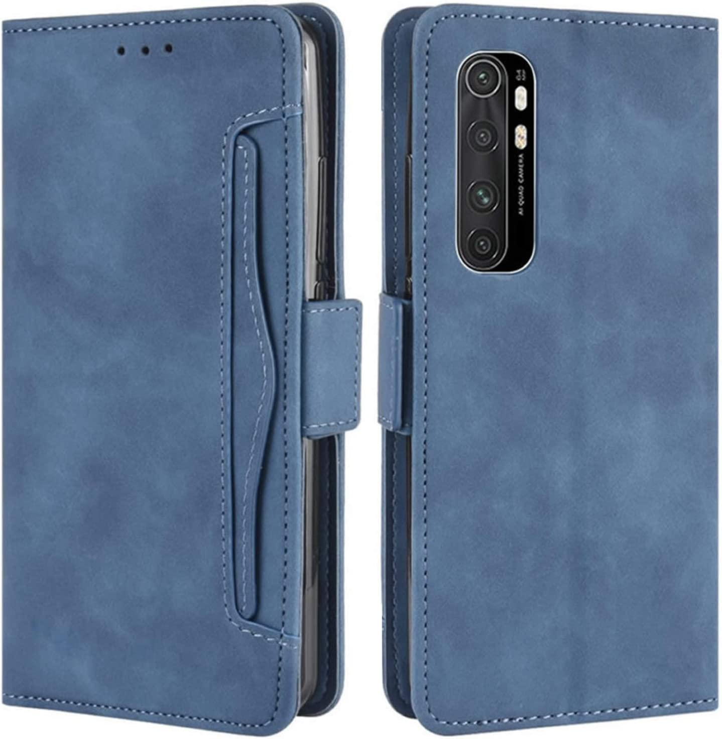 PU//TPU Flip Leather Wallet Cover TANYO Case for Xiaomi Mi Note 10 Lite Premium 3D Butterfly Phone Shell with Cash /& Card Slots Blue