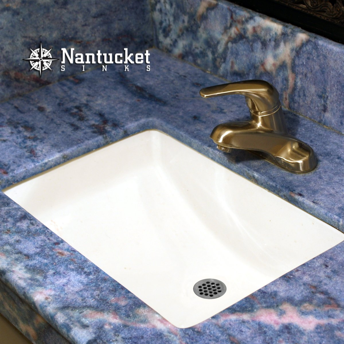 Nantucket Sinks UMxW Inch By Inch Rectangle Ceramic - Square undermount bathroom sinks for bathroom decor ideas
