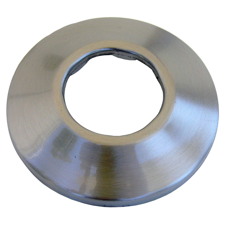 Simpatico 31253SN Sure Grip Shallow Flange Fits 1-1/4-Inch, Satin Nickel