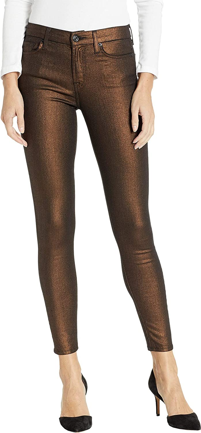 Copper 7 For All Mankind Womens Metallic Ankle Skinny in Copper