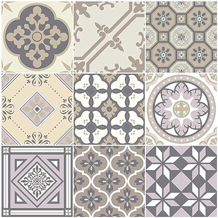 Carreaux De Ciment Adhésif Mural Azulejos 10 X 10 Cm 9 Pièces
