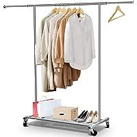 "Super Heavy Duty Mini Salemans Garment Rail Clothes Rail 2ft 6/"" Long CHROME"