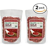 Healthworks Goji Berries Raw Organic, 2lb (2 1lb Packs)