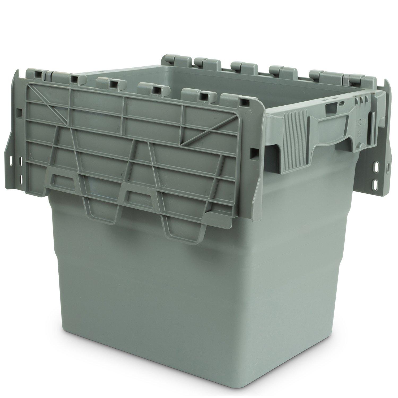 400 x 300 x 365 mm Hans 22600453 Schourup Recipiente reutilizable con tapa color gris
