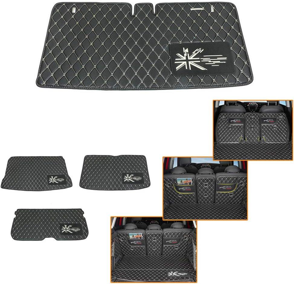 QIDIAN-Tapis de plancher de coffre de voiture Tapis principal de coffre de rev/êtement de cargaison pour MINI Cooper R55 R56 F54 F55 F56 F60 R60 Countryman Protection Pad