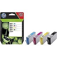 HP N9J74AE 364XL Cartucho de Tinta Original de alto rendimiento, 4 unidades, negro, cian, magenta y amarillo