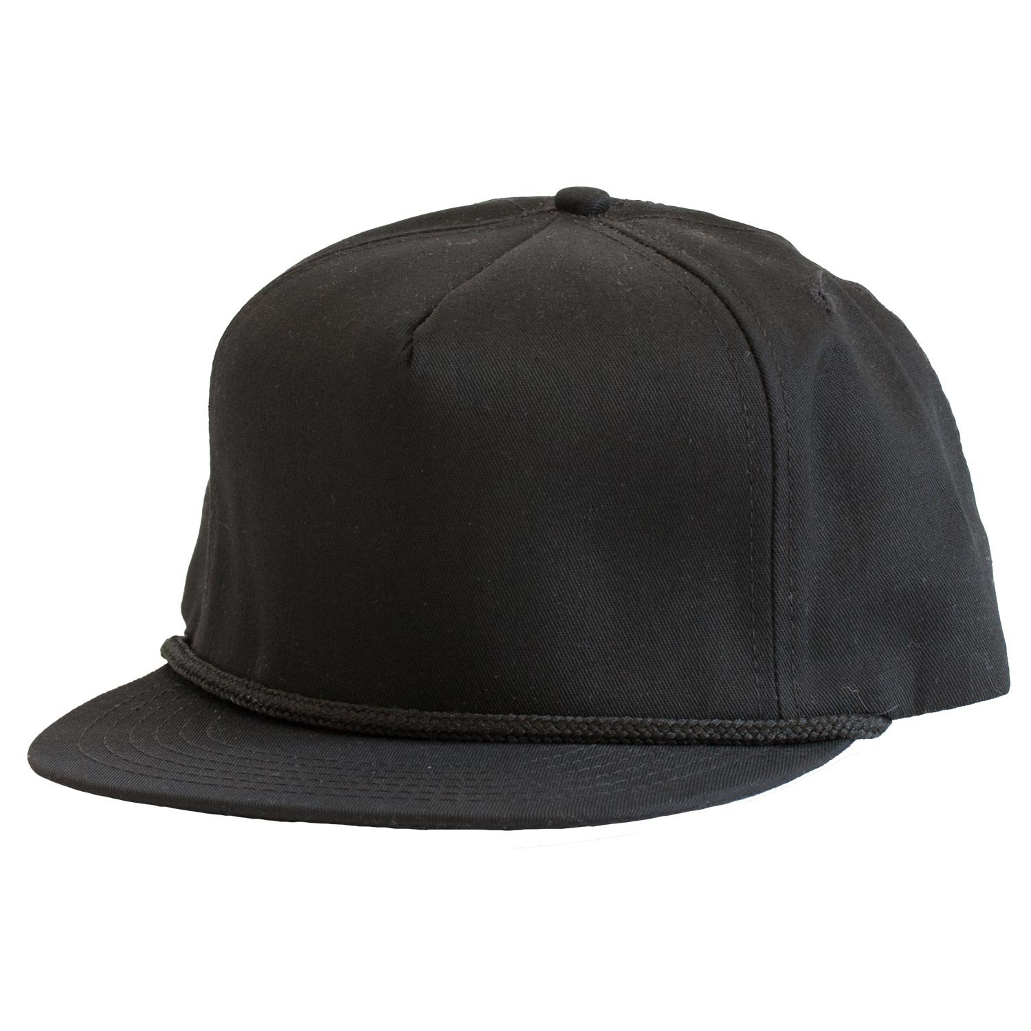 online store 866e3 4b106 Levine Hat Co 100% Cotton Twill Structured Baseball Cap with Rope Accent  Adjustable Size (3+ Colors) (One Size, Black) at Amazon Men s Clothing  store