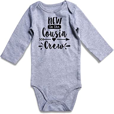 BABY ANNOUNCEMENT Cute Cousin BODYSUIT INFANT ROMPER NEW TO THE COUSIN CREW
