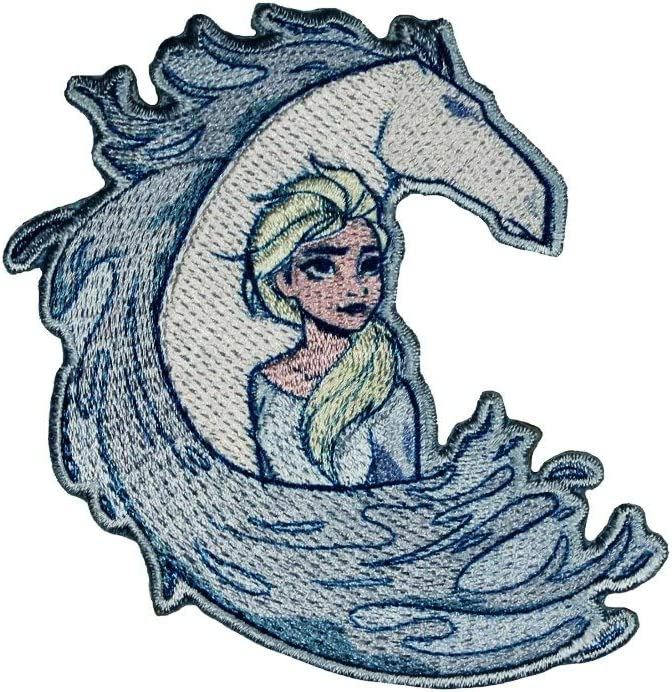 """2/"""" Disney frozen elsa embroidered patch fabric applique iron on character"""