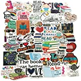50PCS Reading Stickers,Motivational Stickers for Water Bottle Laptop Computer Phone Decal Pack
