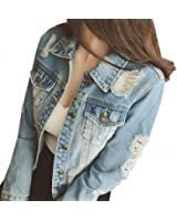 Boyfriends Short Denim Jacket Women NEW Vintage Long Sleeve Chaqueta Mujer Frayed Cool Slim Jaqueta Jeans