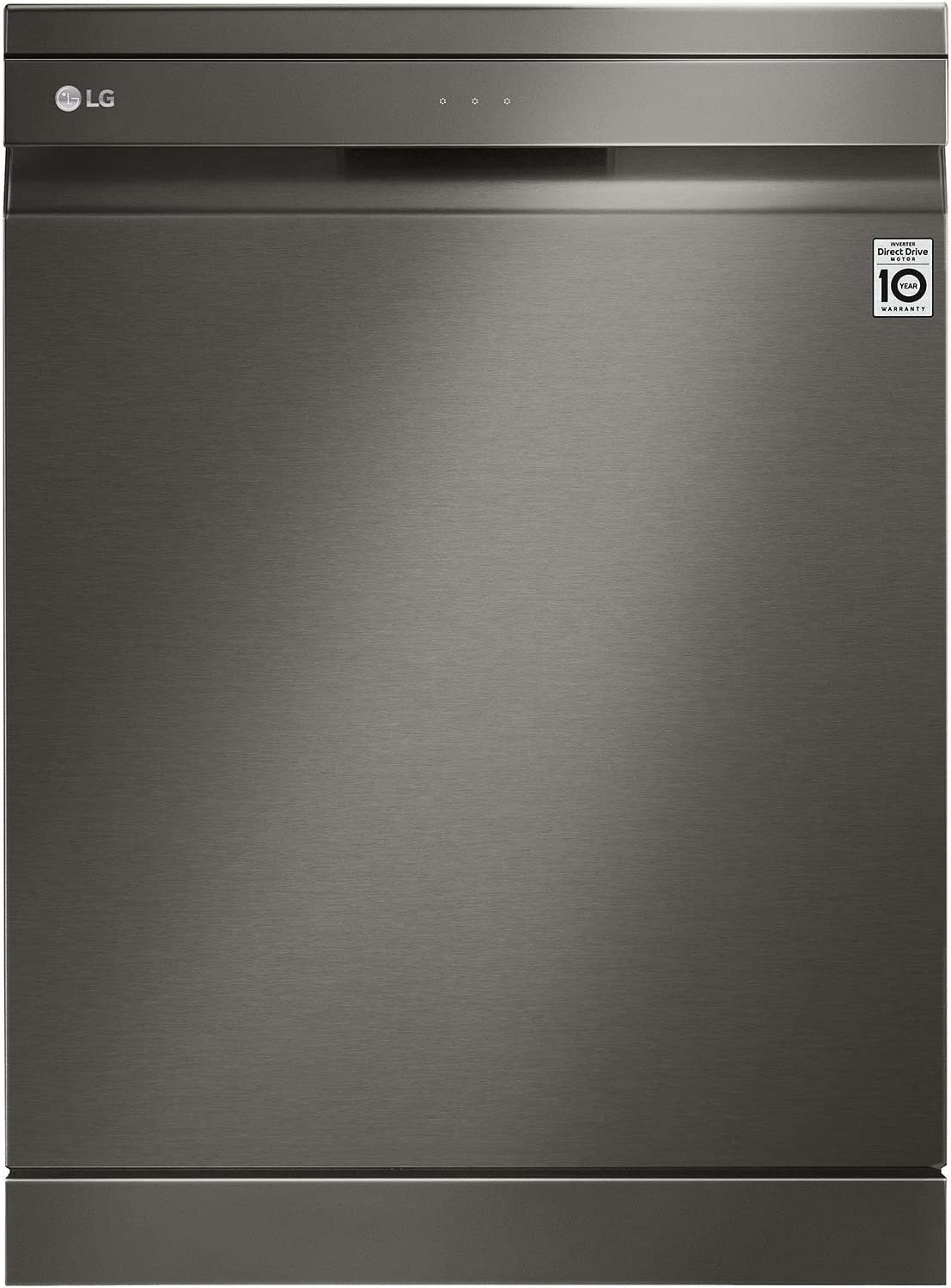 Lg 10 Programs 14 Place Settings Free Standing Steam Wash Dishwasher Matte Black Stainless Steel Dfb227hd 1 Year Warranty Price In Uae Amazon Uae Kanbkam