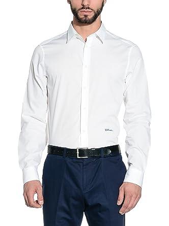 new product 5c722 10e1d Just Cavalli Camicia Uomo Bianco IT 48: Amazon.it: Abbigliamento