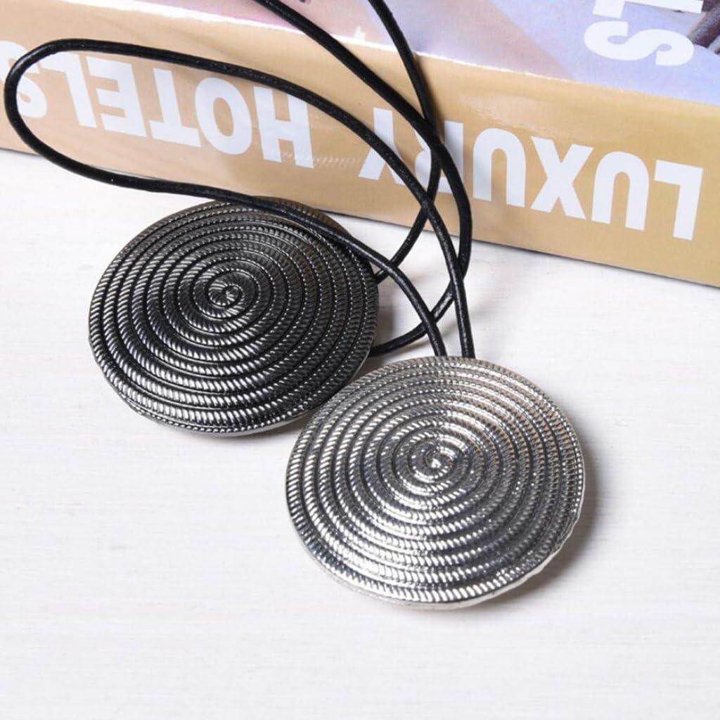 B Blesiya 1 St/ücke 2 St/ücke Europa Typ Magnetische Vorhang Raffrosetten Schnallen Holdback Decor Ros/égold
