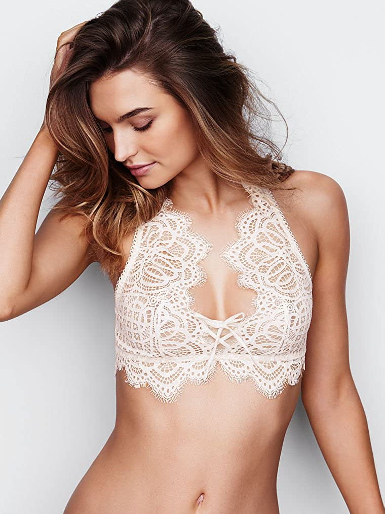 98cf532c620 Victoria  s Secret Dream Angels The Lace-up Bralette Golden Earth at Amazon  Women s Clothing store